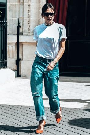 Victoria Beckham _ White Tee Shirt 14